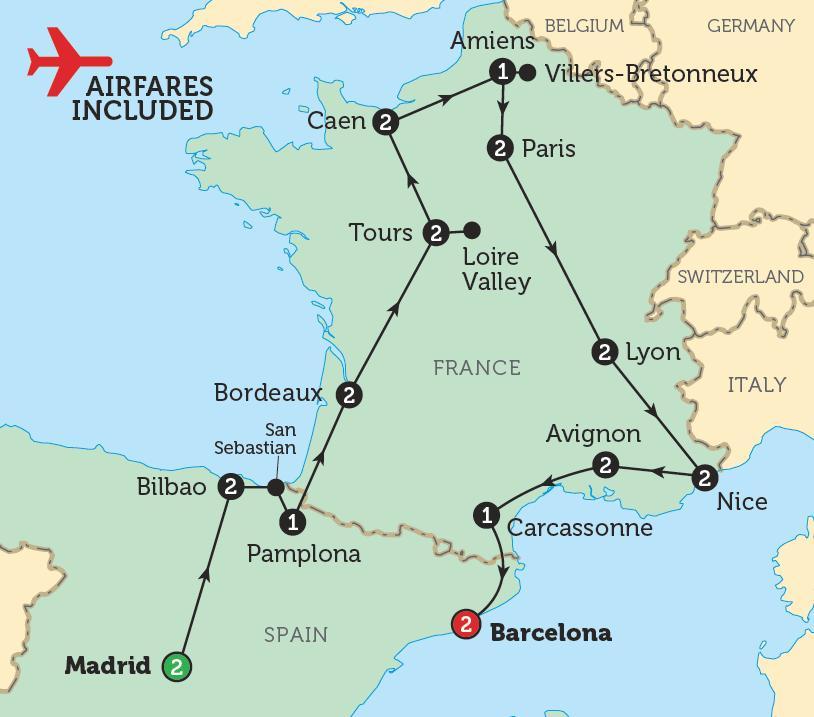 Barcelone carte de france - Carte de barcelone france (Catalogne, Espagne)
