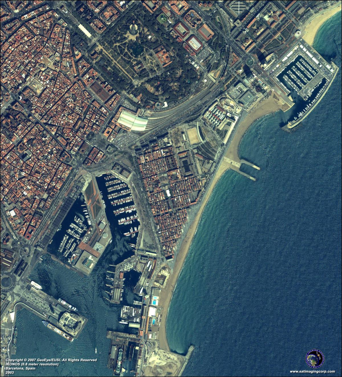 carte de barcelone satellite